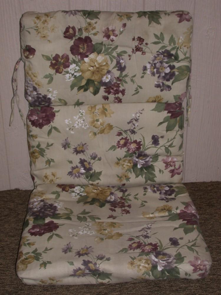 Purple Patio Chair Seat Cushions: (1) Outdoor Patio Chair Cushion
