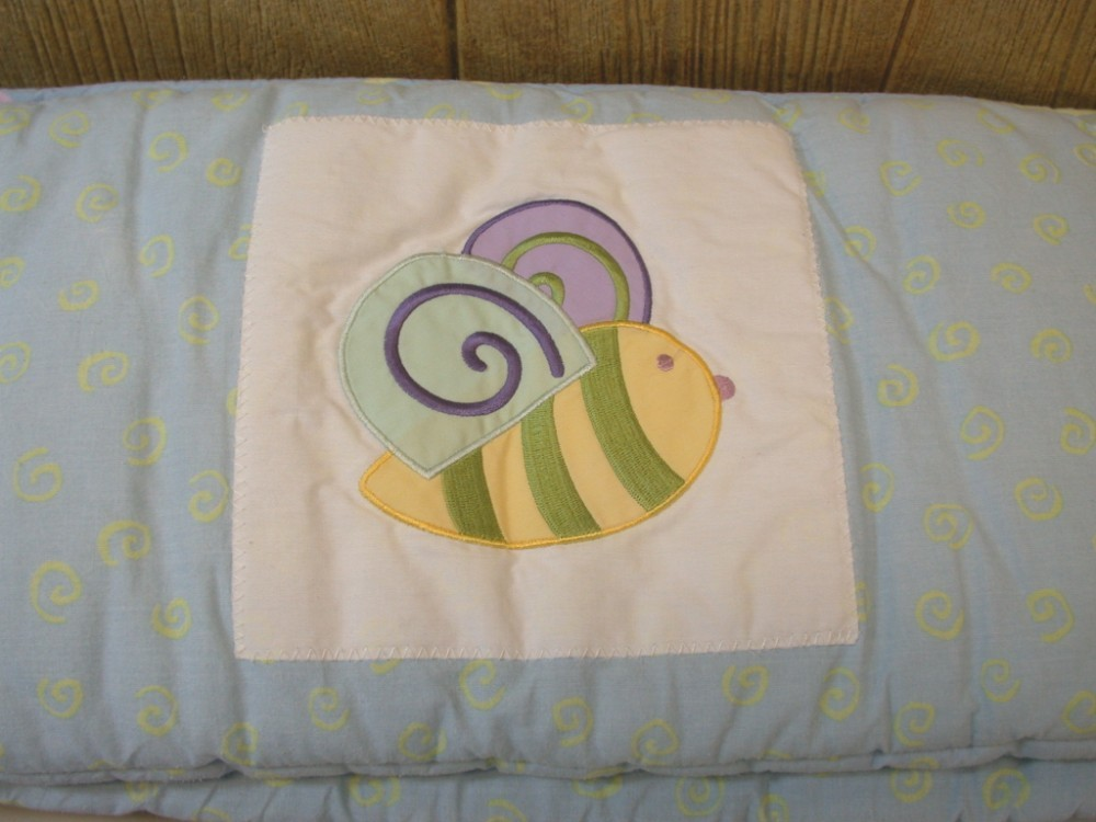 5 Pc Whimsical Butterfly Turtle Bee Crib Bedding Set