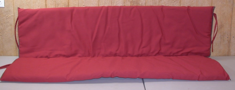 1 Outdoor Swing Glider Cushion Flame Solid 30 W X 56