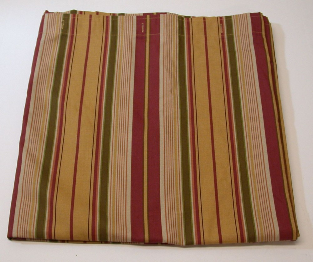 100 cotton striped fabric shower curtain rust gold