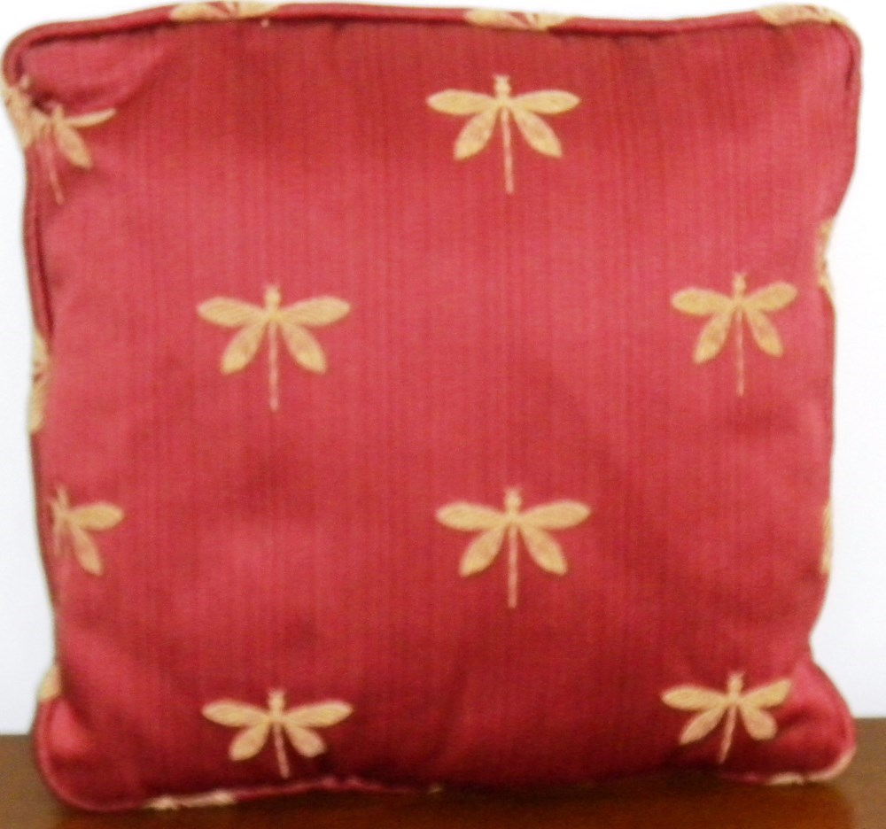 Burgundy Colored Throw Pillows : 1 Decorative Dragonfly Throw Pillow Burgundy Tan 12