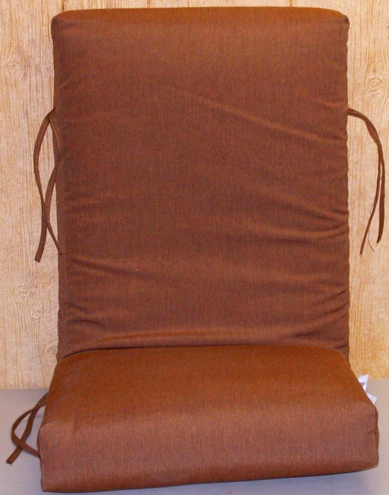 1 Outdoor Patio Chair Cushion Canvas Teak Sunbrella 20 X 45 X 5 NEW