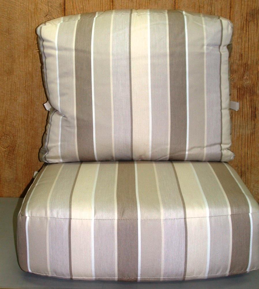 2 Pc Outdoor Deep Seat Cushion Set ~ Milano Flax ~ 25 x 18 x 9 ...