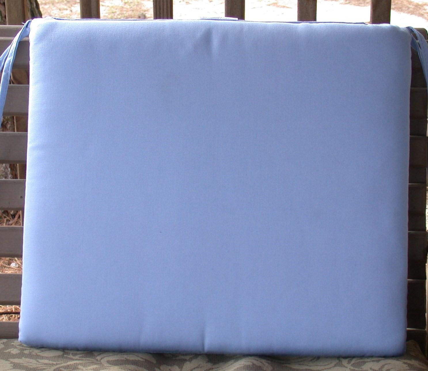 Outdoor Patio Seat Pad ~ Canvas Air Blue Sunbrella® ~ 20 x 18 x ...