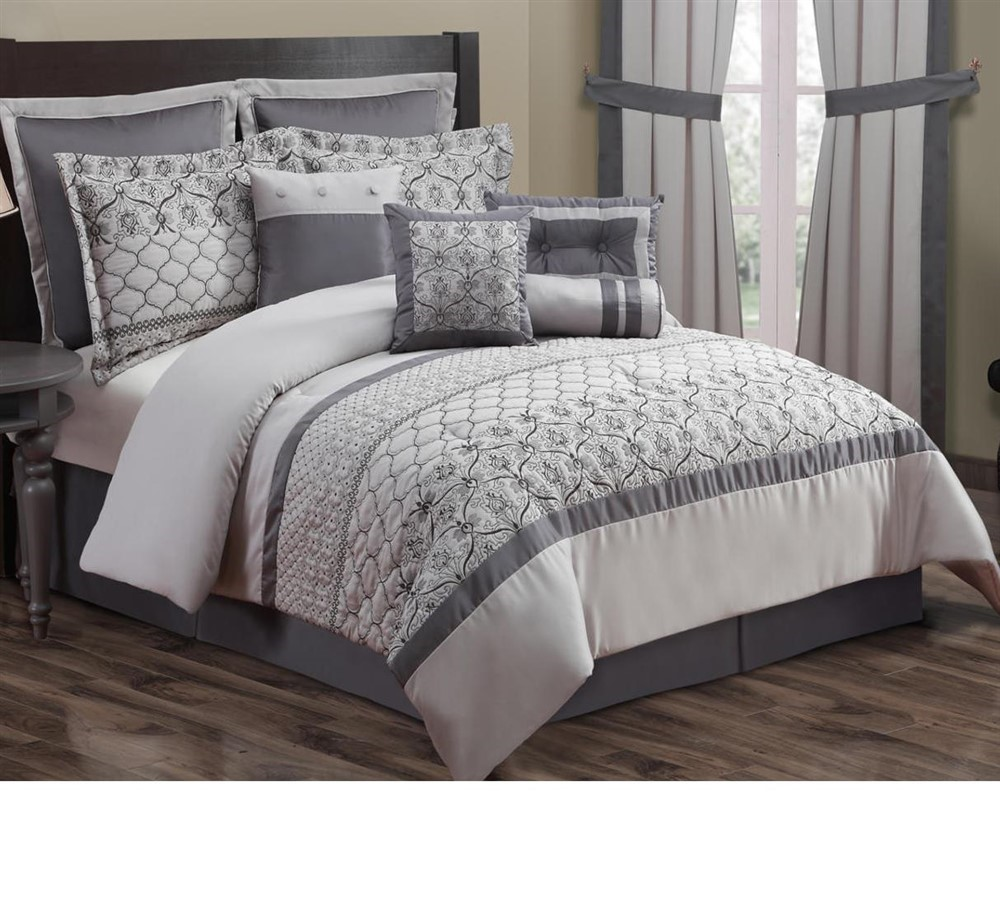 kohl39s 10 pc embroidered bedding set cal king 106 x 92