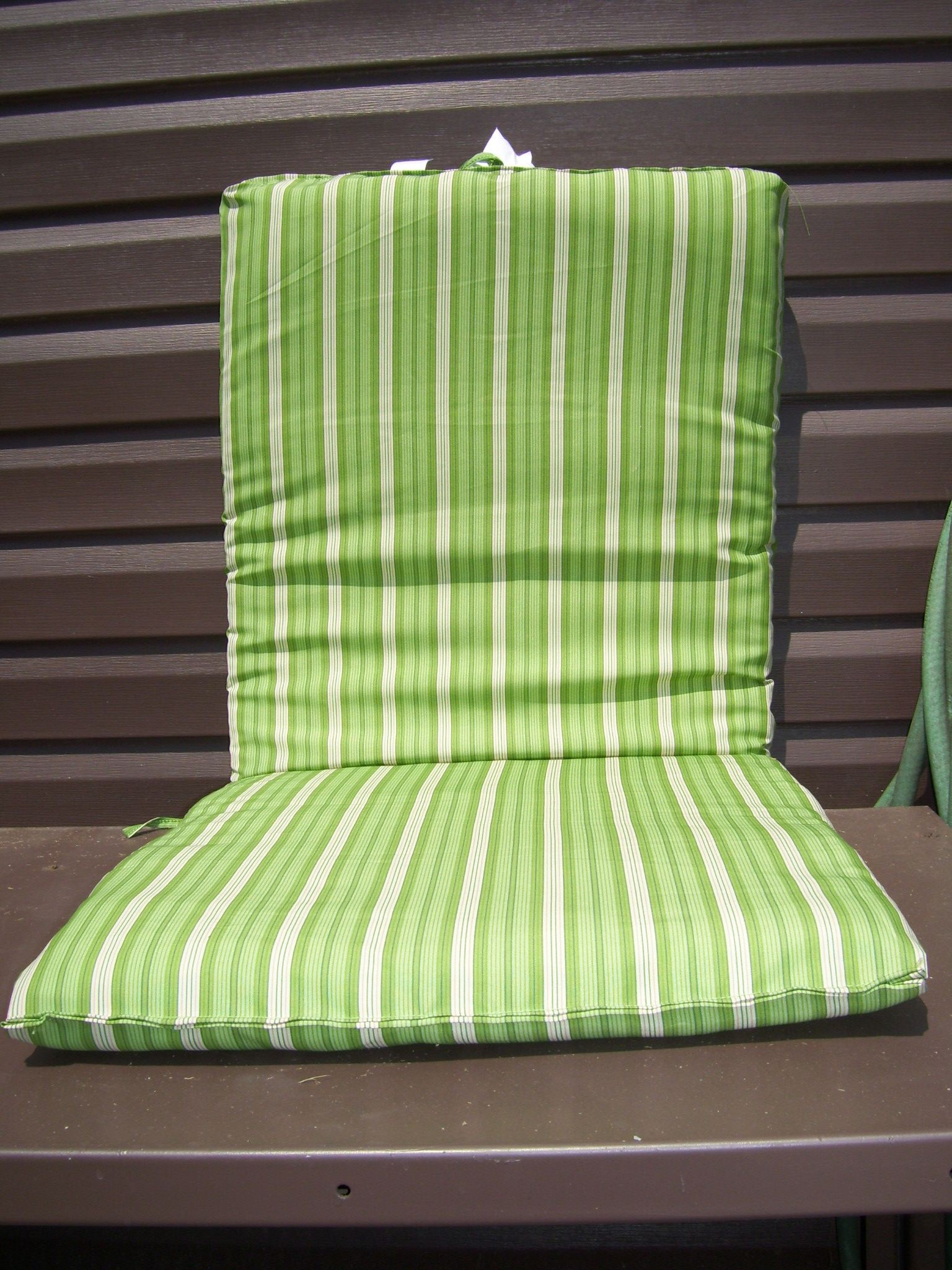 6 new green and white striped outdoor patio cushions ebay